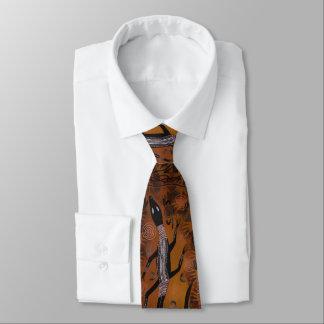 Night Lizard Aboriginal Tie