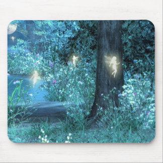 Night Magic fairy flight Silhouette mouse pad