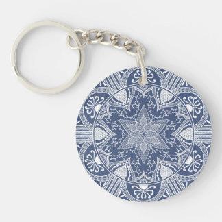 Night Mandala Keychain
