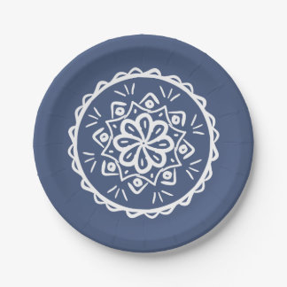 Night Mandala Paper Plate
