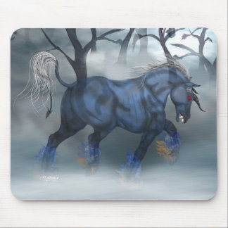 Night Mare Blu Mouse Pads