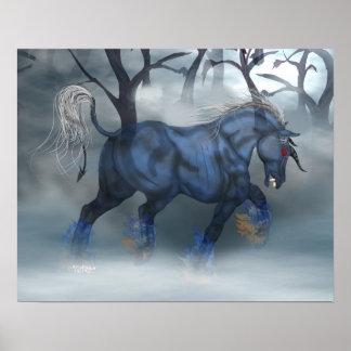 Night Mare Blu Print