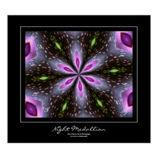 Night Medallion Black Border Poster