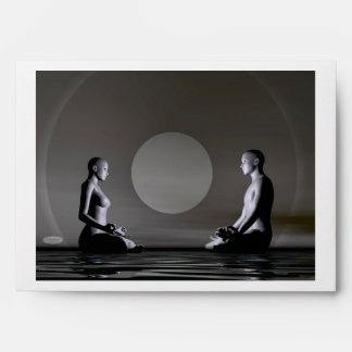 Night meditation - 3D render Envelope