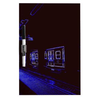Night Metro in Milano Dry-Erase Whiteboard
