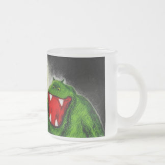 Night Monster Frosted Glass Coffee Mug