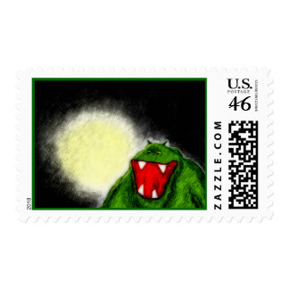 Night Monster Postage Stamps