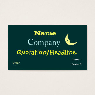 Night Moon Business Cards