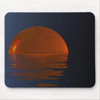 Night Moon reflection on the water Mouse Pad