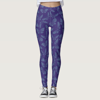 night moth butterflies background leggings
