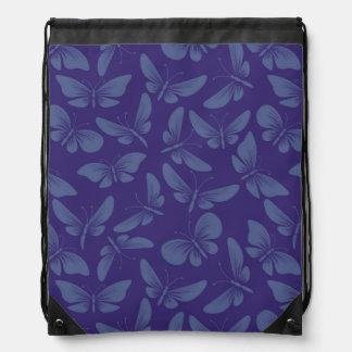 night moth butterflies background drawstring bag