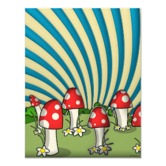 Night Mushrooms Card