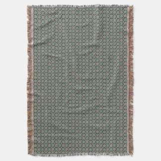 Night Music - Frosted Teal Throw Blanket