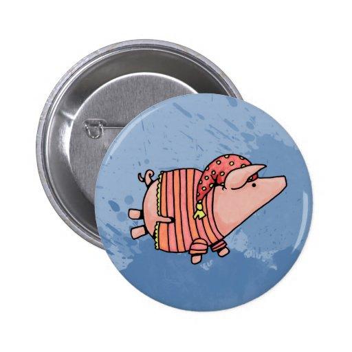 night night piggy 2 inch round button