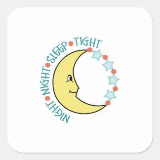 NIGHT NIGHT SLEEP TIGHT SQUARE STICKERS