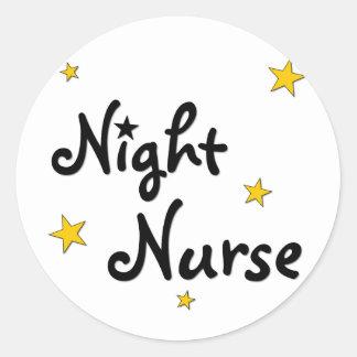 Night Nurse Classic Round Sticker