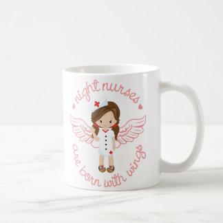 Night Nurses Are Born With Wings Coffee Mug