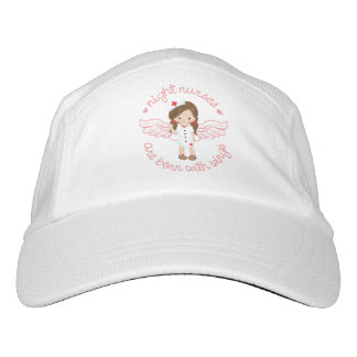 Night Nurses Are Born With Wings Headsweats Hat