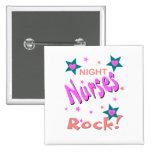 Night Nurses Rock 2 Inch Square Button