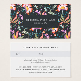 Night Oasis Appointment Business Card