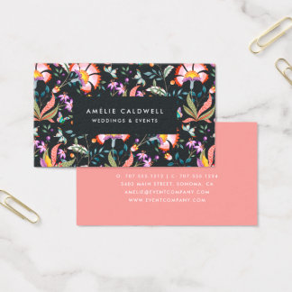 Night Oasis Business Card   Coral