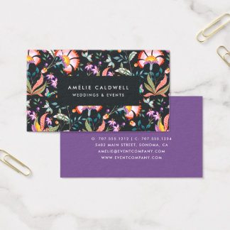 Night Oasis Business Card   Ultraviolet