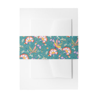Night Oasis Floral Belly Band | Viridian