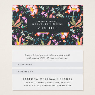 Night Oasis Referral Business Card