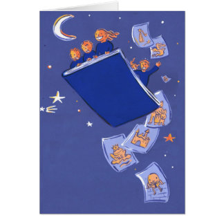 night of 1000 tales greeting card