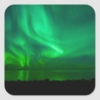 NIGHT OF AURORAS SQUARE STICKER