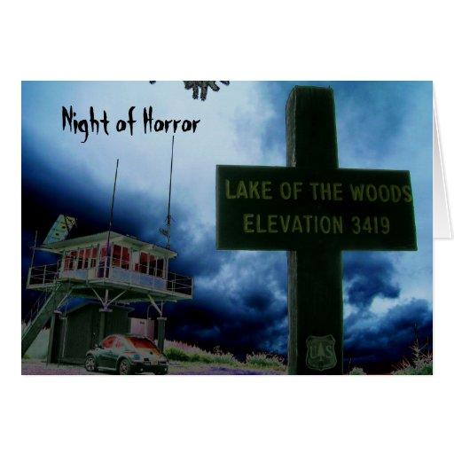 Night of Horror Halloween Greeting Card