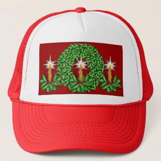 Night of Light Christmas Ball Cap Red