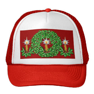 Night of Light Christmas Ball Cap Red