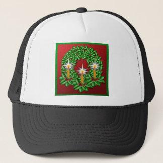 Night of Light Christmas Wreath Trucker Hat