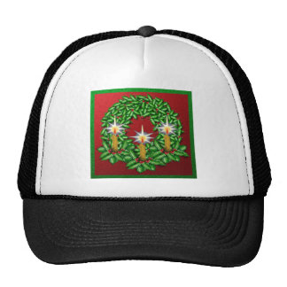 Night of Light Christmas Wreath Trucker Hat