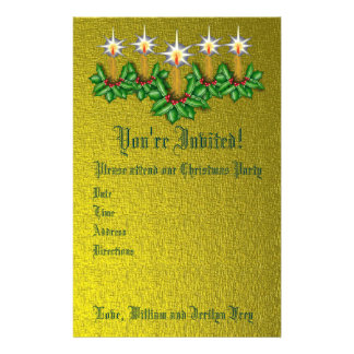 Night of Light Holiday Stationary Invite Stationery Paper