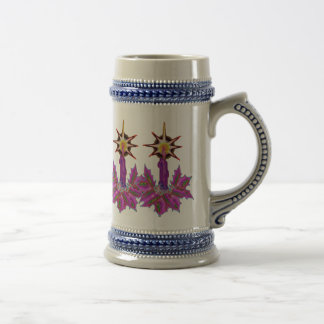 Night of Light Reverb Pink Holly Candle Stein 18 Oz Beer Stein