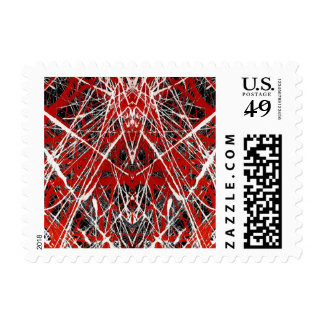 NIGHT OF  THE BAT ss (abstract art) ~.jpg Postage