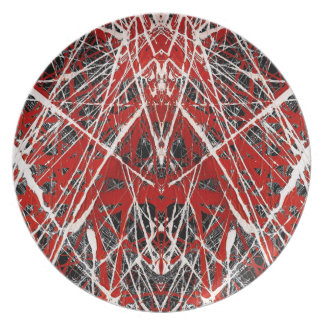 NIGHT OF  THE BAT ss (abstract art) ~ Melamine Plate