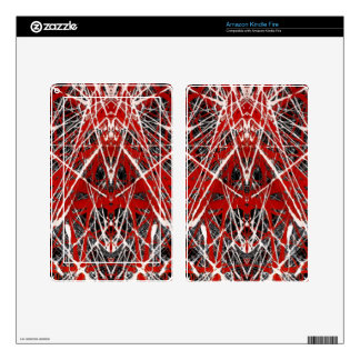 NIGHT OF  THE BAT ss (abstract art) ~ Skins For Kindle Fire