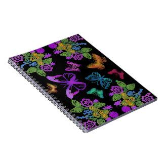 Night of the Butterflies Spiral Notebooks