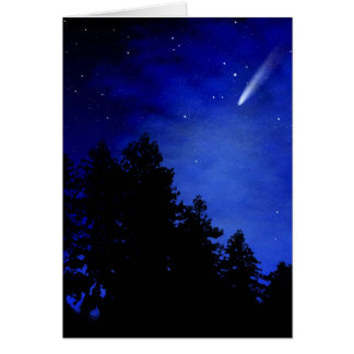Night Of The Comet Greeting Card