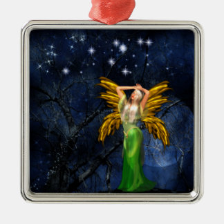 Night of the Faery Square Hanging Ornament