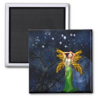 Night of the Faery Square Refrigerator Magnets