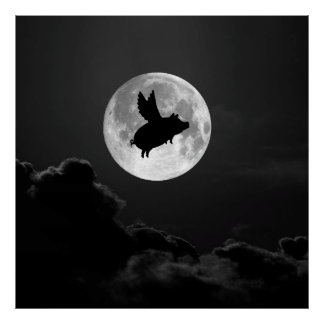 """night of the flying pig - 20"""" x 24"""" poster"""