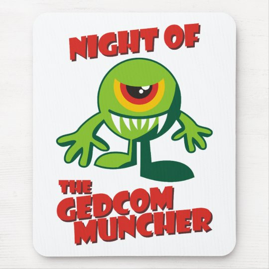 Night Of The GEDCOM Muncher Mouse Pad