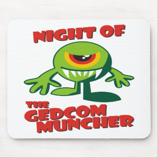 Night Of The GEDCOM Muncher Mouse Pads