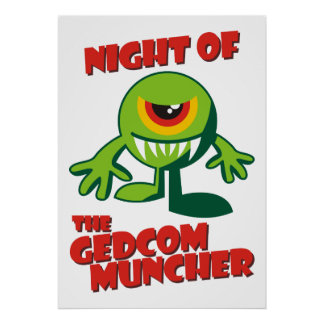 Night Of The GEDCOM Muncher Posters