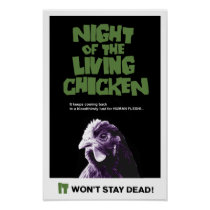 NIGHT Of The LIVING CHICKEN Poster