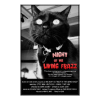 Night of the Living Frazz! Cat Horror Movie Poster